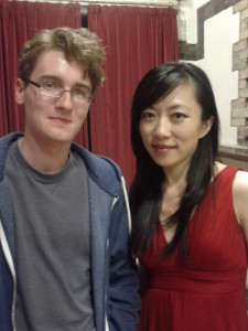 With Xuefei Yang (classical guitarist) in Belfast, 5th June 2013.